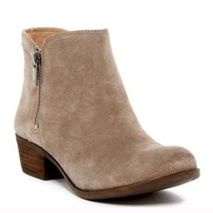 Lucky Brand Breah Tan Suede Ankle Bootie 8